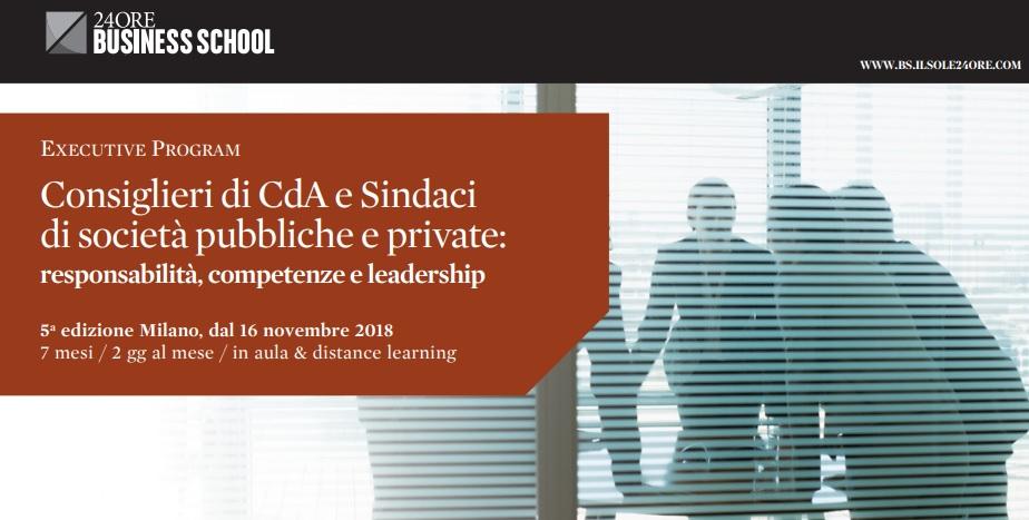 Executive Master – Consiglieri di Cda e Sindaci di società pubbliche e private