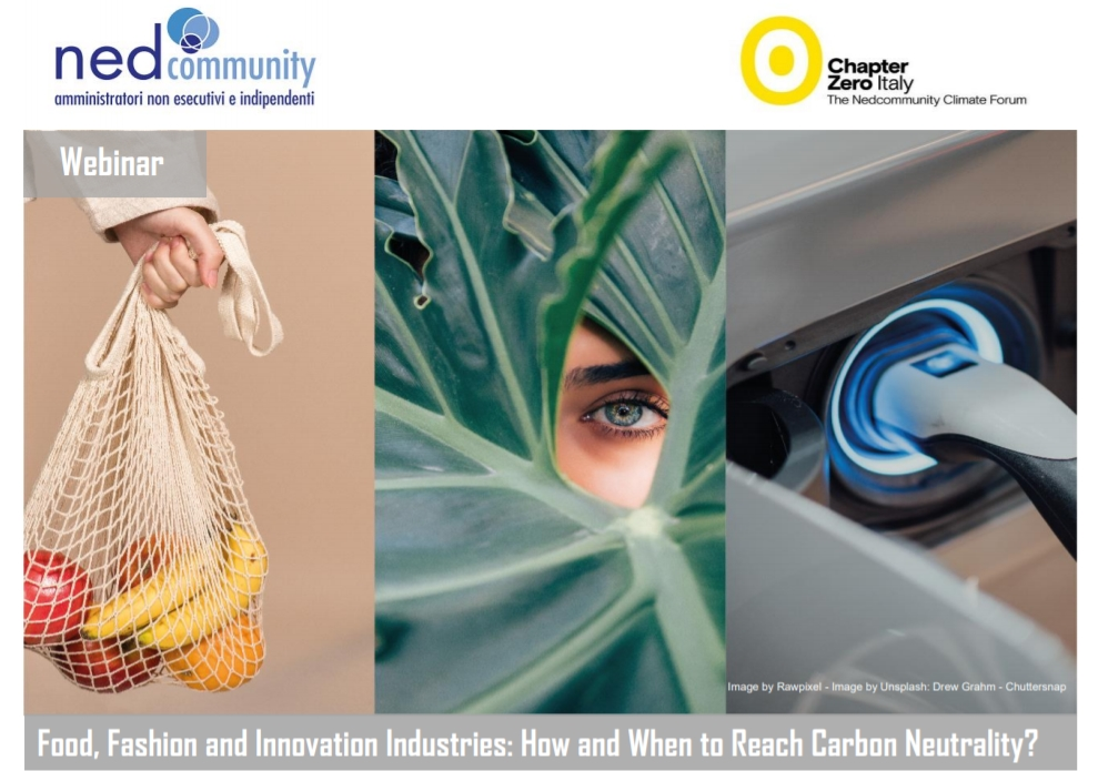 Webinar – 25/03/2021 – Food, Fashion and Innovation Industries: How and When to Reach Carbon Neutrality?